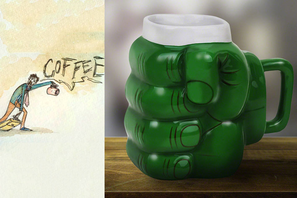 Литровая кружка Zombie Coffee Mug зомби-кофемана