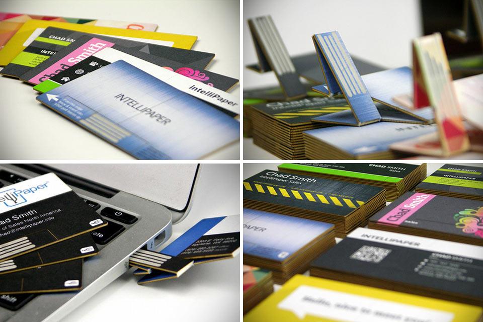Электронно-бумажная визитка swivelCard