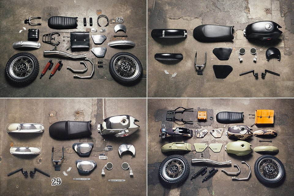 Наборы Moto Guzzi Custom Kits для кастомизации мотоциклов