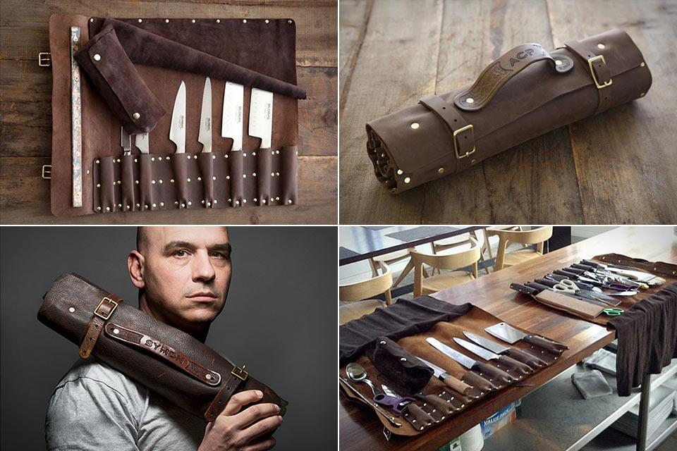 Кастомные чехлы-свертки из кожи Goodson Knife Roll для ножей