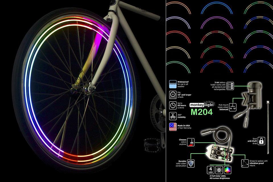 Многоцветная подсветка для велоколес Monkey Lights