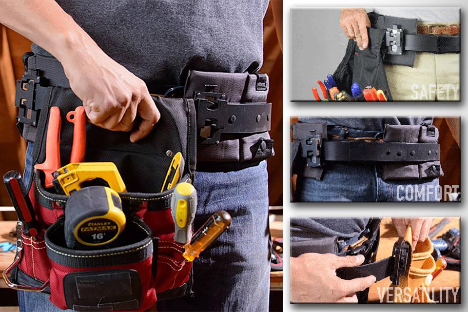Пояс для инструментов TrakBelt360 со свободно перемещающимися карманами