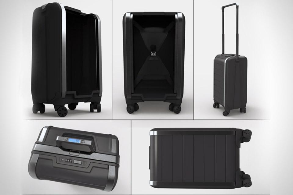 Технологичный чемодан Trunkster с ролл-крышкой и полезной электроникой