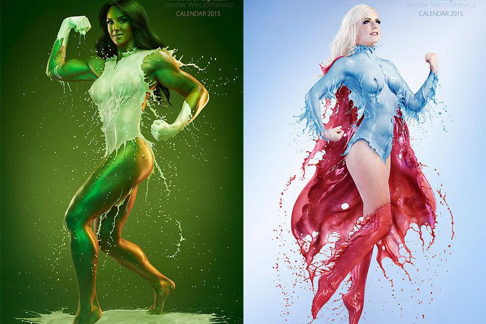 Супергерои DC и Marvel в женском обличье и «жидких» костюмах