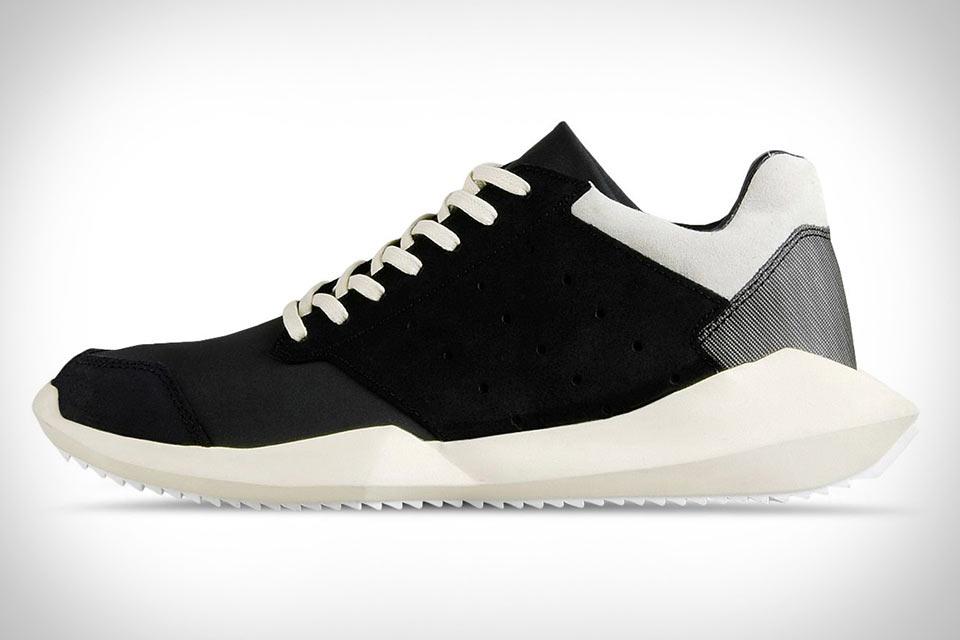 Дизайнерские кроссовки Adidas Rick Owens Tech Runner со странной формой