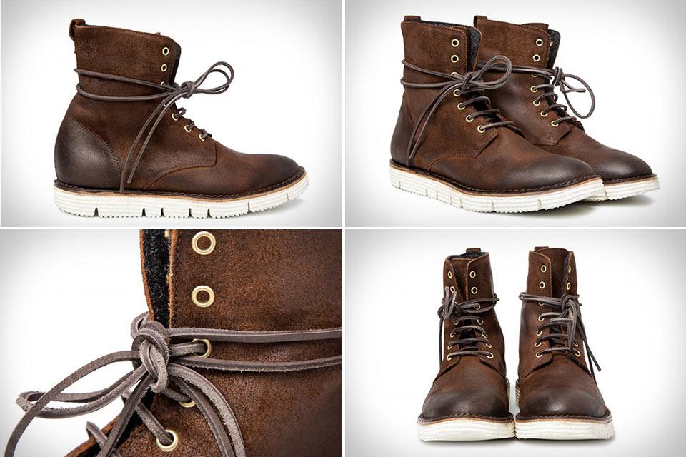 Башмаки Ankle Boot с кожаными шнурками