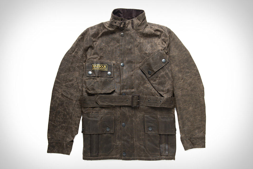 Теплая куртка Barbour X Deus Ex Machina из вощеного хлопка