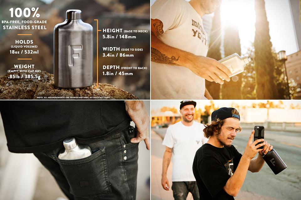Карманная фляга для воды Fred Water Flask из стали