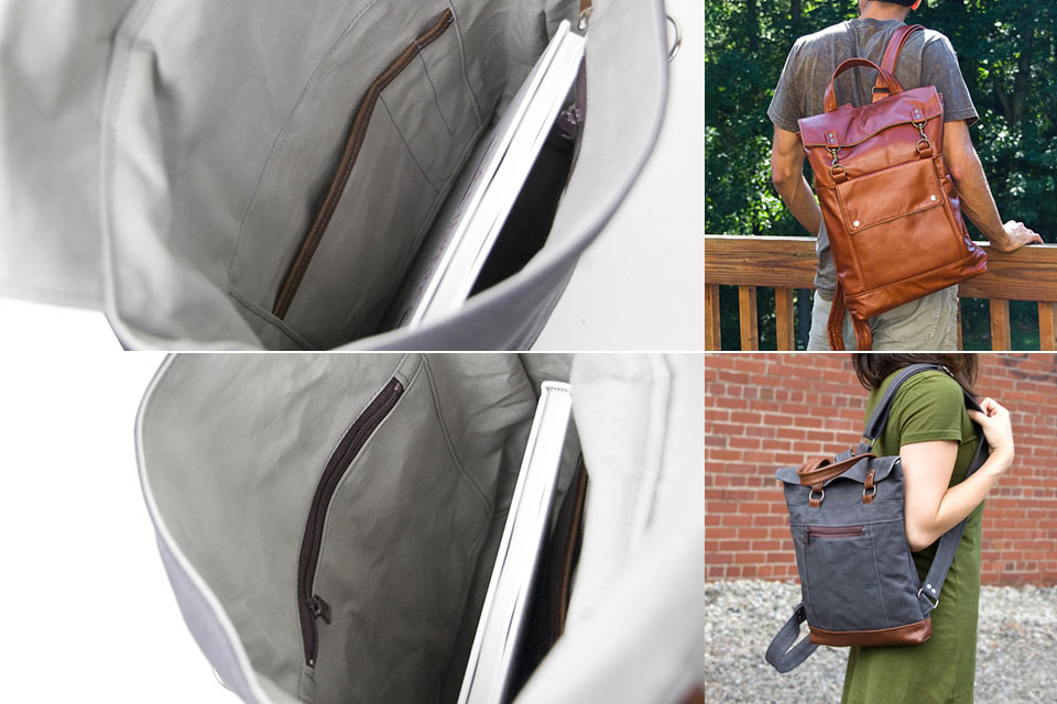 Недорогой кожаный рюкзак Jenny N. Design Backpack