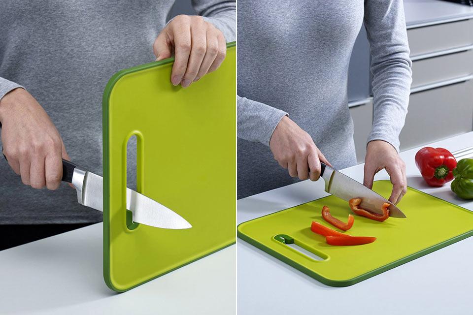 Разделочная доска Knife Sharpening Cutting Board со встроенной точилкой