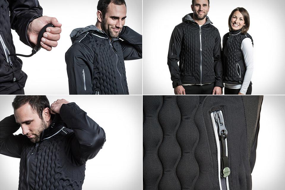Куртка/жилетка NuDown Outerwear с изменяемым объемом изолятора
