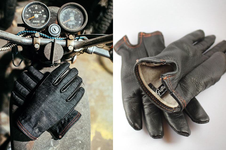 Джинсово-кожаные перчатки Onyx Ranger