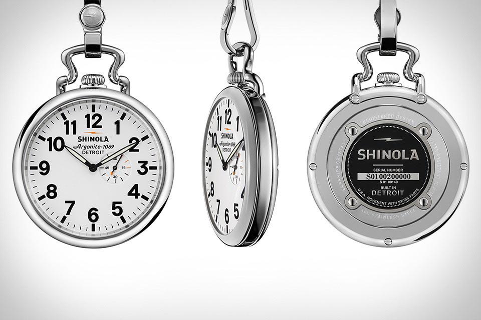 Карманные часы Shinola Runwell Pocket Watch