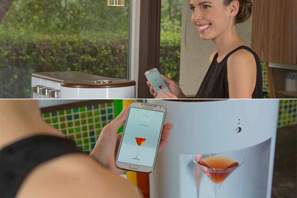 Робот-бармен Somabar с управлением через смартфон