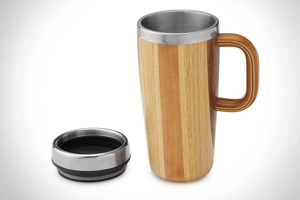 Термокружка Wooden Travel Mug из дерева и стали