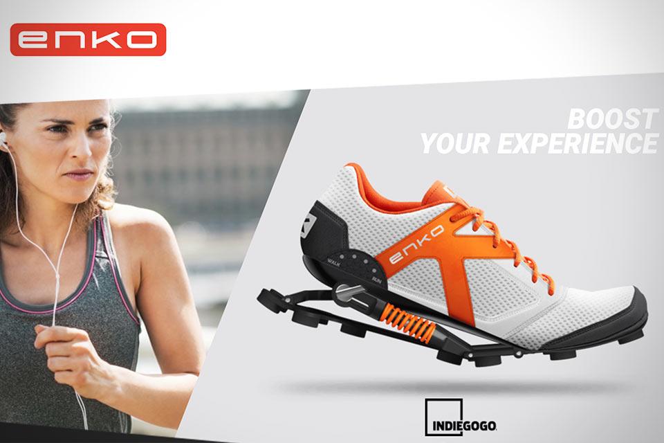 Беговые кроссовки Enko с механической системой амортизации