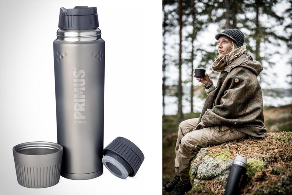 Стальная бутылка Primus Trailbreak с двойными стенками и парой крышек
