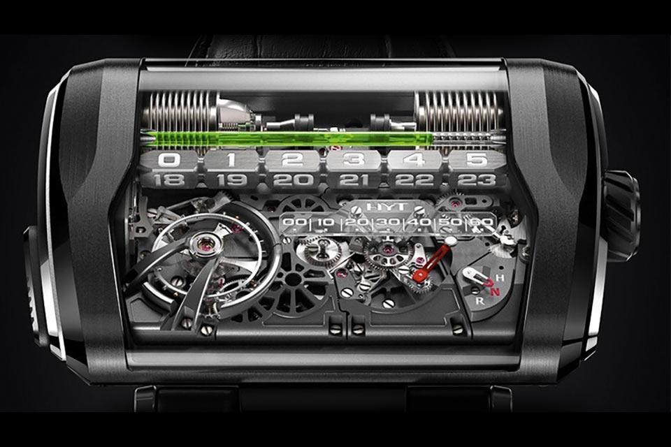Механические часы HYT H3 с гидравлическим индикатором