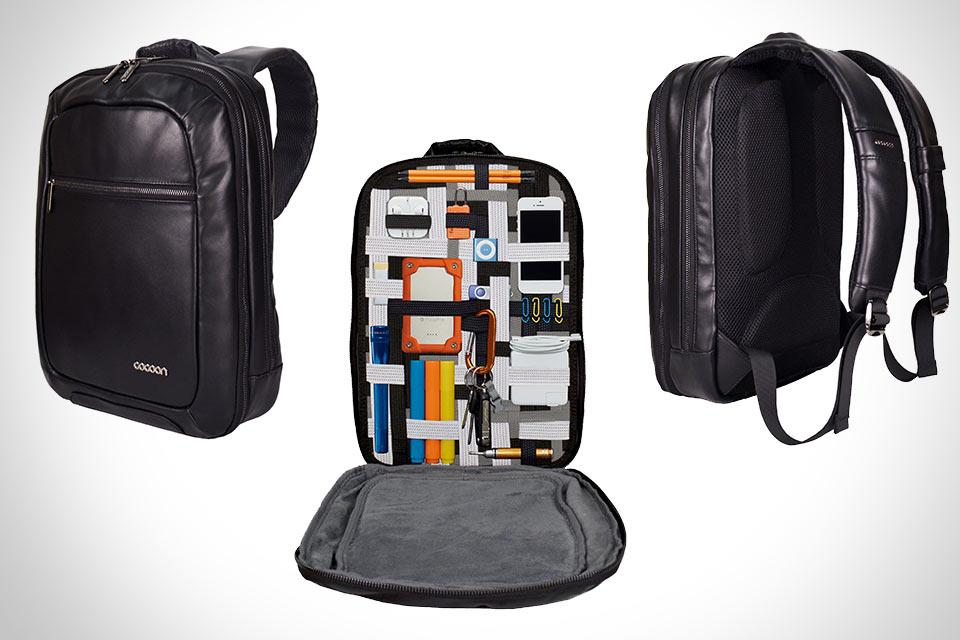 Тонкий кожаный рюкзак для гаджетов Cocoon MCP3401L