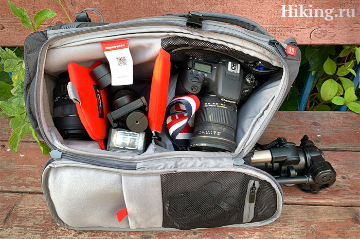 что внутри фоторюкзака Manfrotto Advanced Travel Backpack