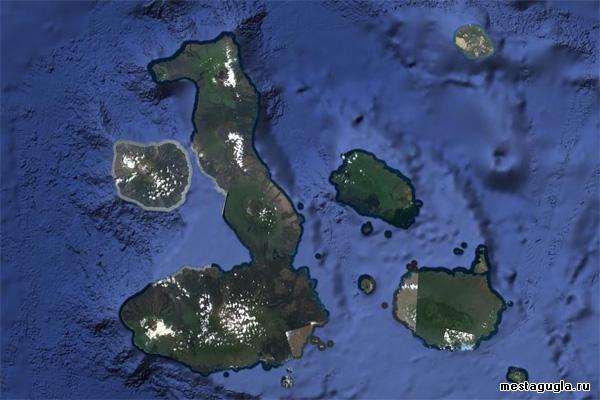 Галапагосские острова сверху