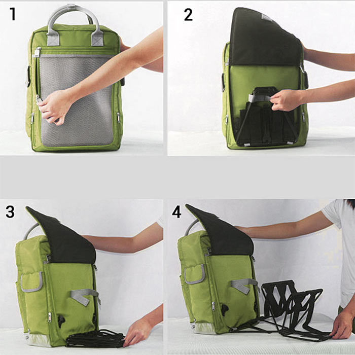 Рюкзак с раскладным стулом в спинке