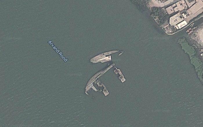 еще один затопленный корабль