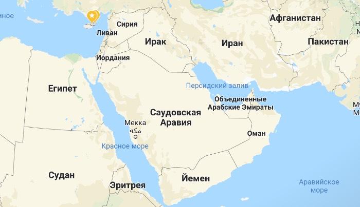 Ирак и Йемен карте