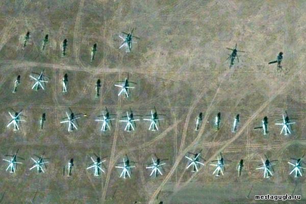 Стоянка вертолетов аэродрома Безенчук