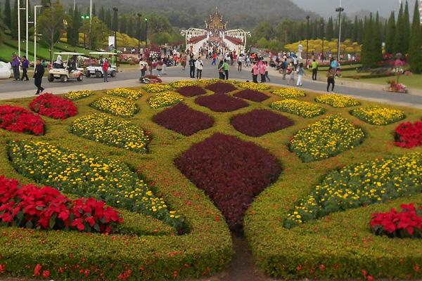 Королевский парк цветов в Чанг Май