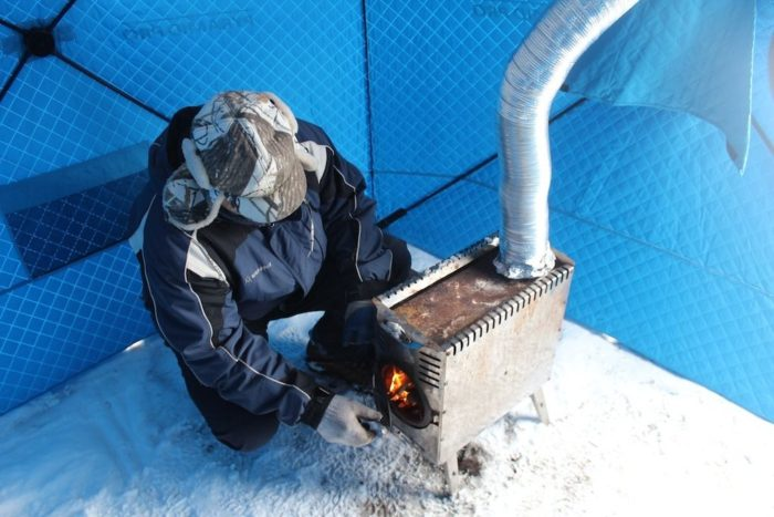 Как обогреть палатку для зимней рыбалки