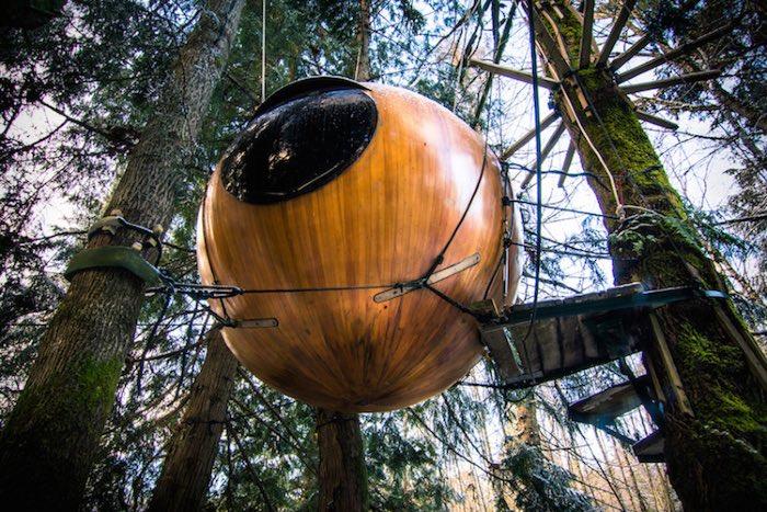 сферический отель Free Spirit Spheres
